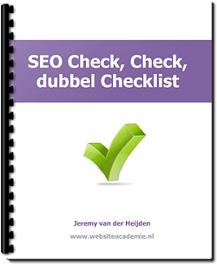 Gratis Ebook - SEO check, check, dubbel checklist