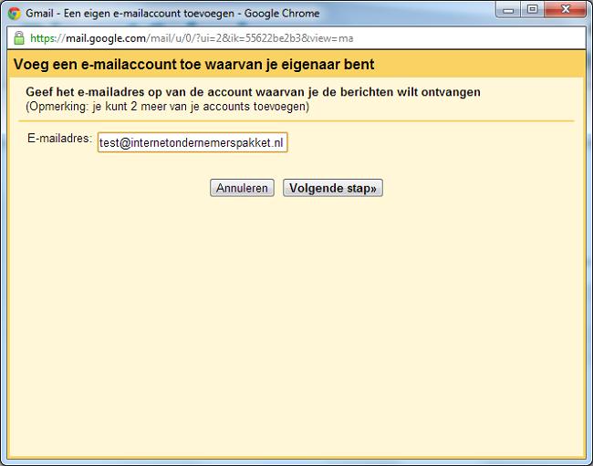 ander gmail account openen