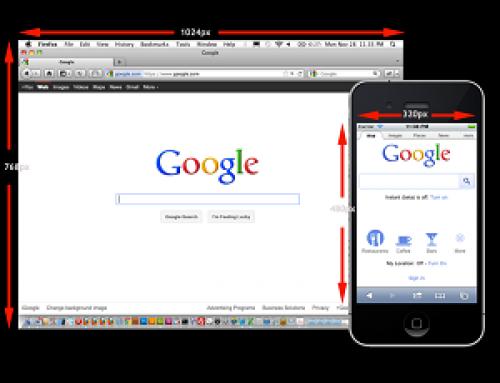 Mobiele website op desktop bekijken