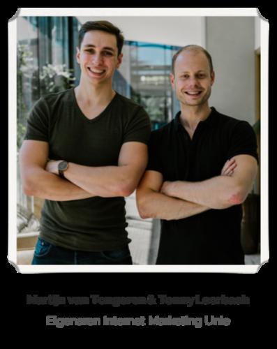 Tonny en Martijn, oprichters Phoenix website software