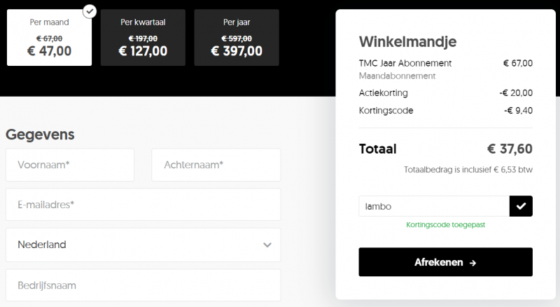 the millionaires club kortingscode