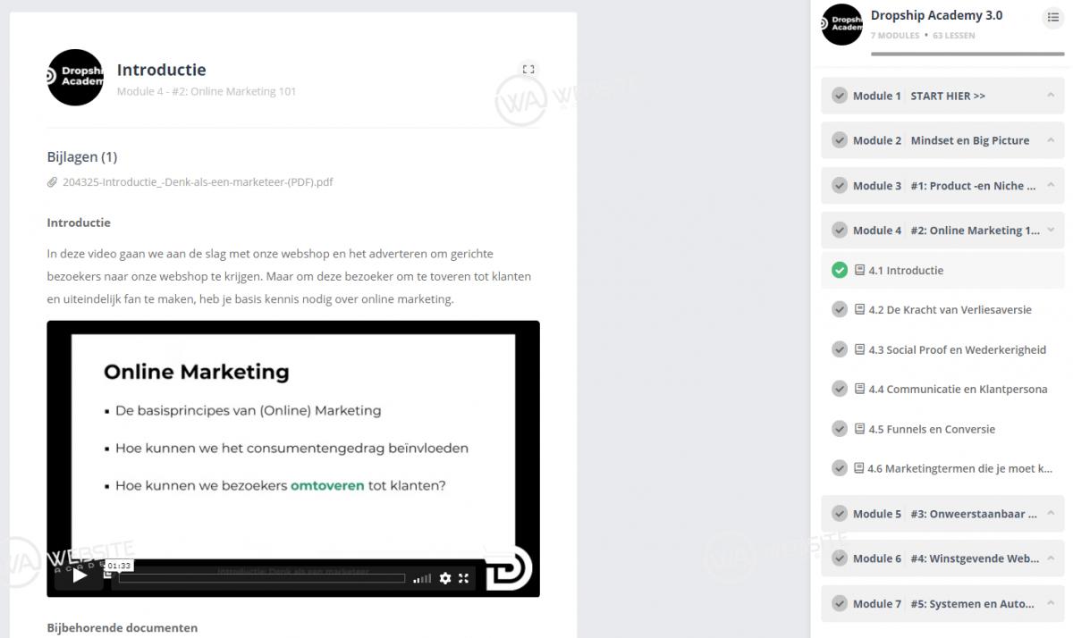 Dropship Academy 3.0 - Online Marketing 101